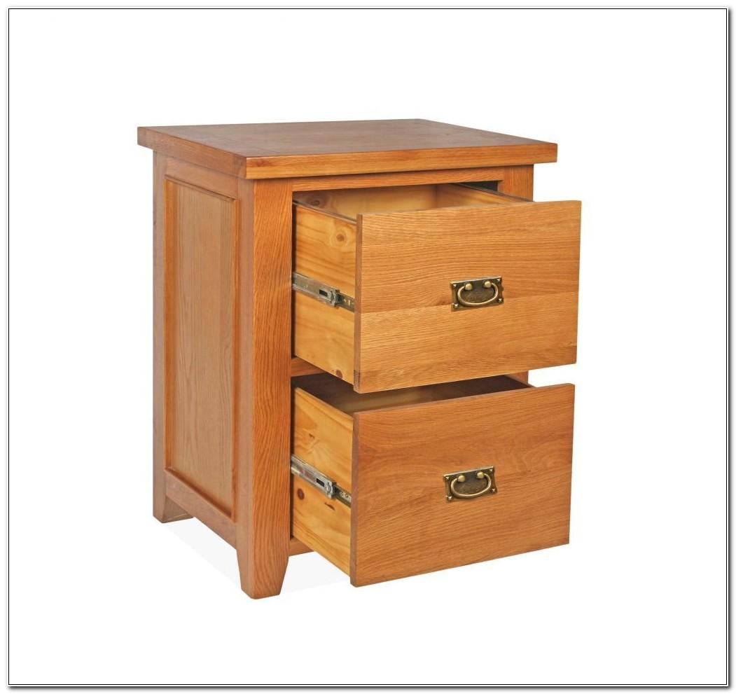 Oak Filing Cabinet 2 Drawer
