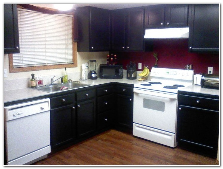 Oak Kitchen Cabinets Painted Black