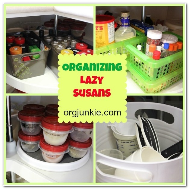 Organize Lazy Susan Cabinet