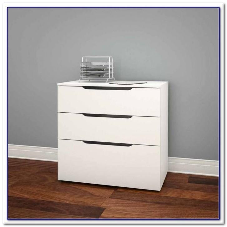 Orion 3 Drawer Rolling File Cabinet Black