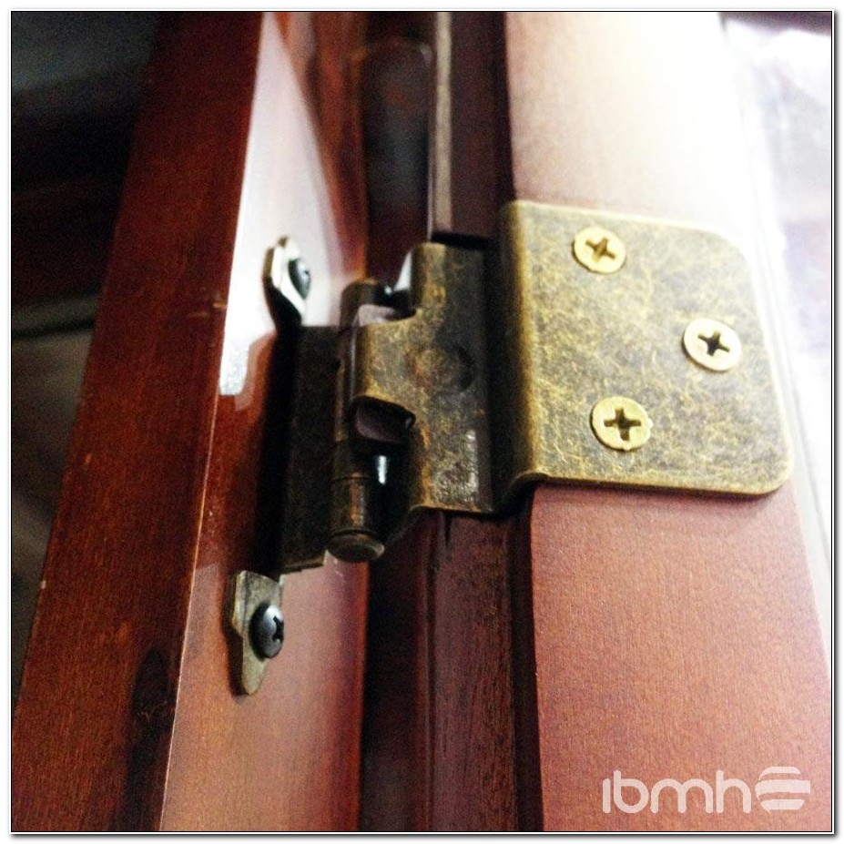 Ornamental Flush Mount Cabinet Hinges