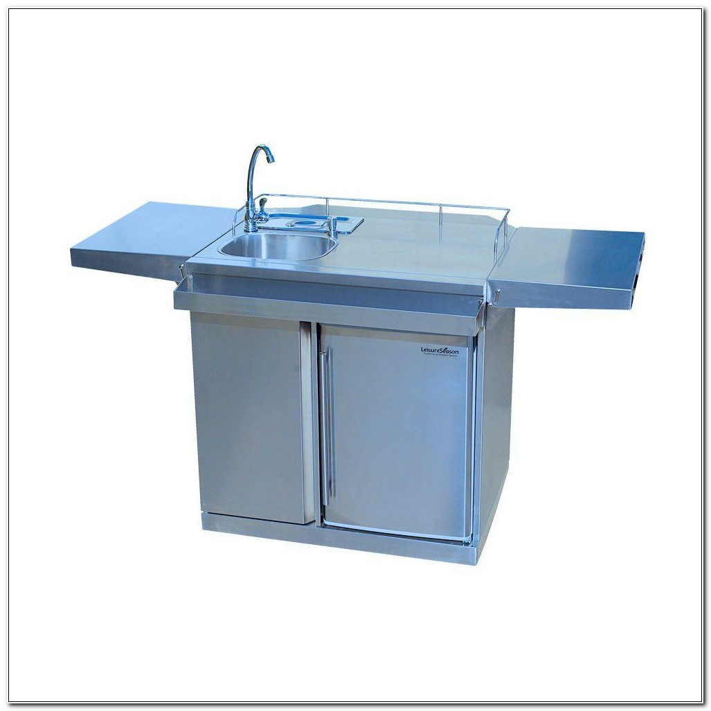 Outdoor Stainless Steel Sink And Cabinet