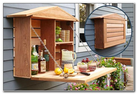 Outdoor Wall Mounted Bar Cabinet