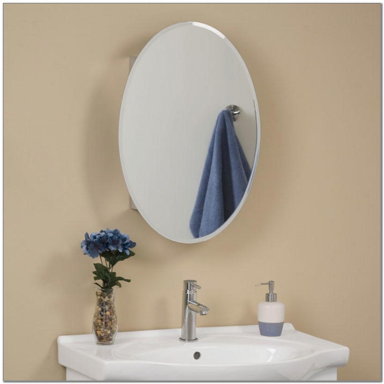 Oval Bathroom Medicine Cabinets Mirror