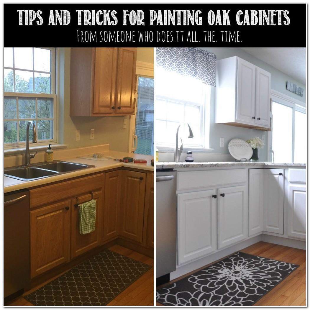 Paint Refinishing Oak Kitchen Cabinets