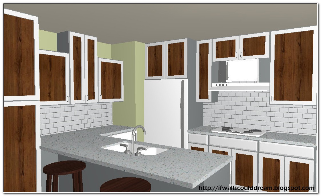 Painted Kitchen Cabinets With Stained Doors