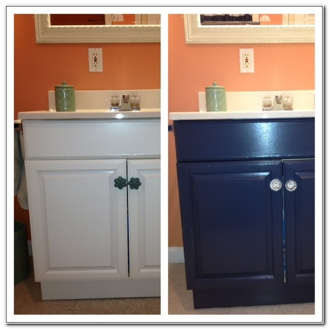 Painting A Laminate Bathroom Cabinet