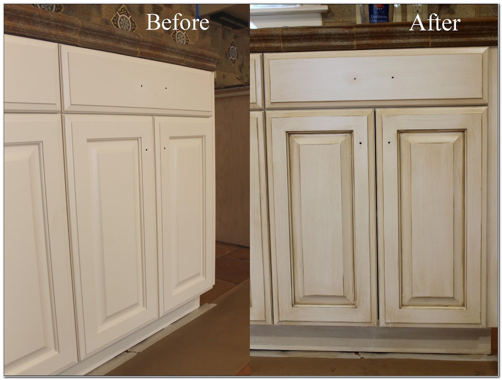 Painting Kitchen Cabinets Antique White Glaze