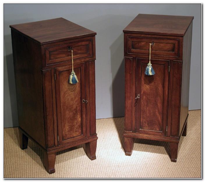 Pair Of Mahogany Bedside Cabinets