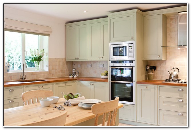 Pale Sage Green Kitchen Cabinets