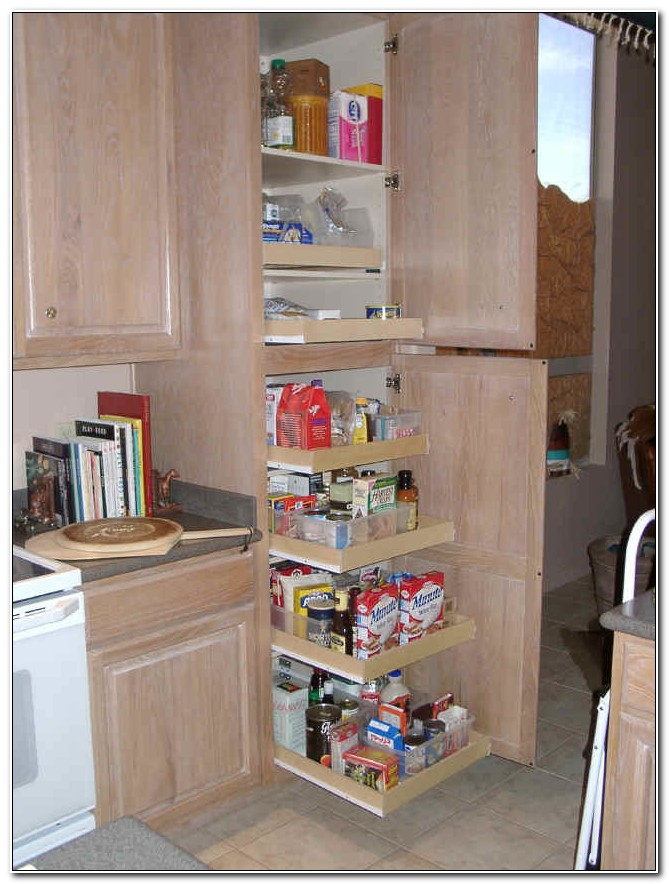 Pantry Cabinet With Sliding Drawers
