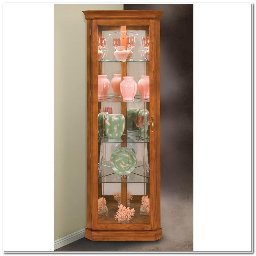 Philip Reinisch Corner Curio Cabinets