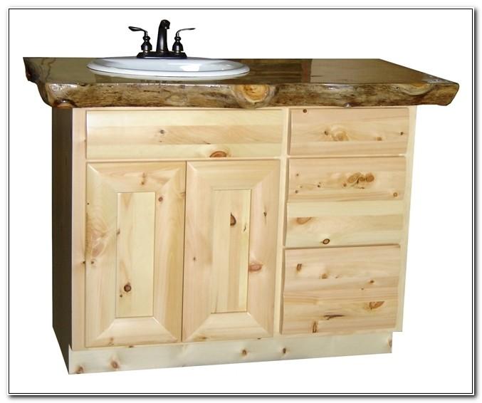 Pine Bathroom Vanity Cabinets