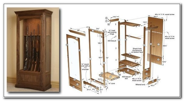 Plans For Gun Cabinet Download Free