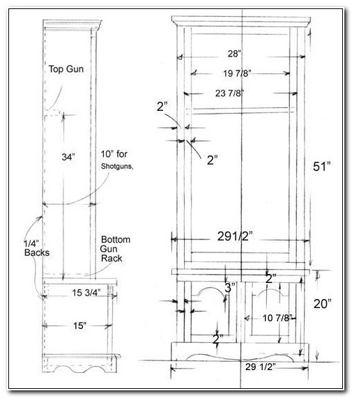 Plans For Simple Gun Cabinet