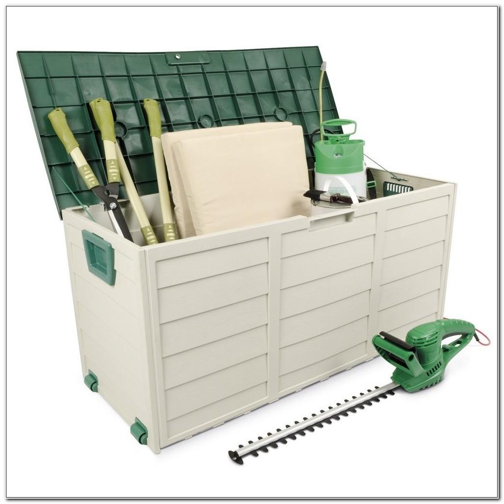 Plastic Garden Storage Cabinet Chest Waterproof