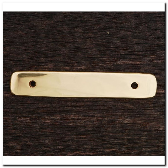 Polished Brass Cabinet Pull Backplate