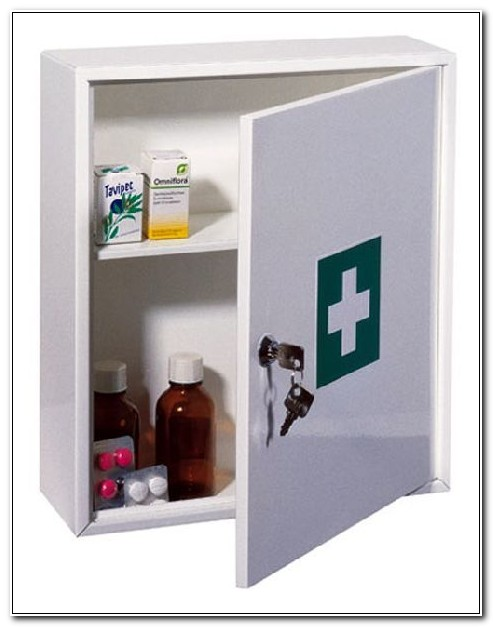 Portable Medicine Cabinet With Lock