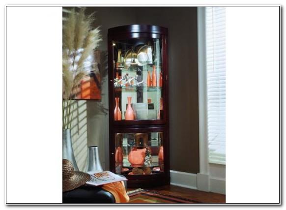 Pulaski Chocolate Cherry Corner Curio Cabinet
