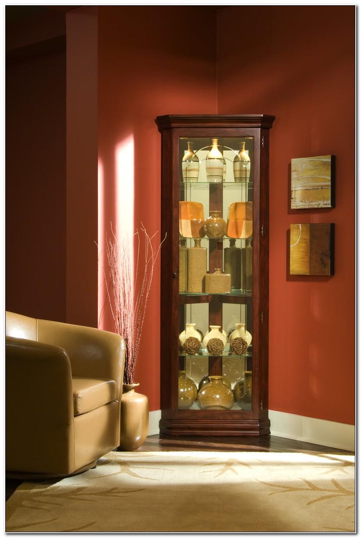 Pulaski Corner Curio Cabinet 20205