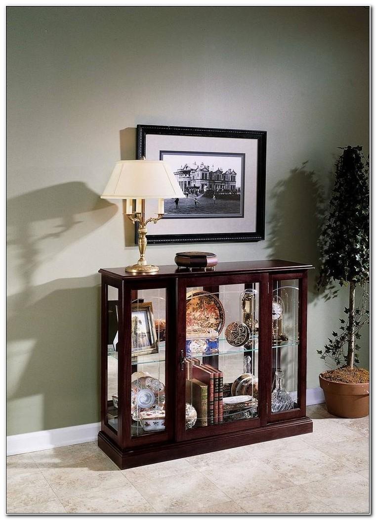 Pulaski Ridgewood Cherry Console Curio Cabinet