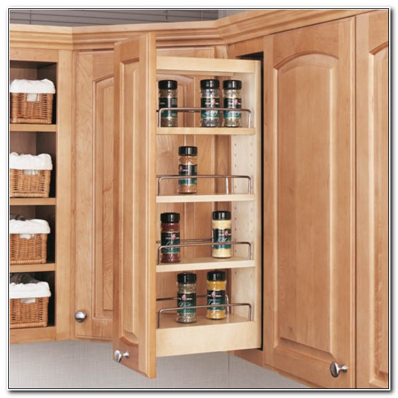 Pull Out Spice Racks For Upper Cabinets