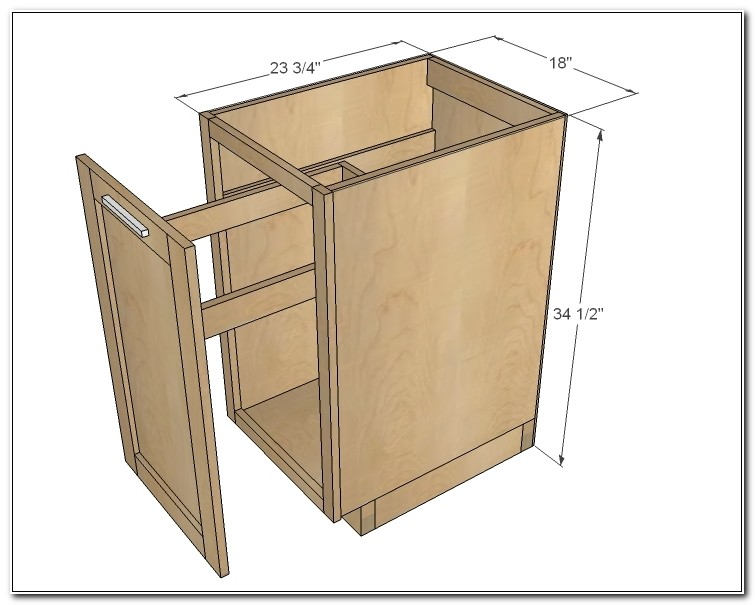Pull Out Trash Cabinet Dimensions
