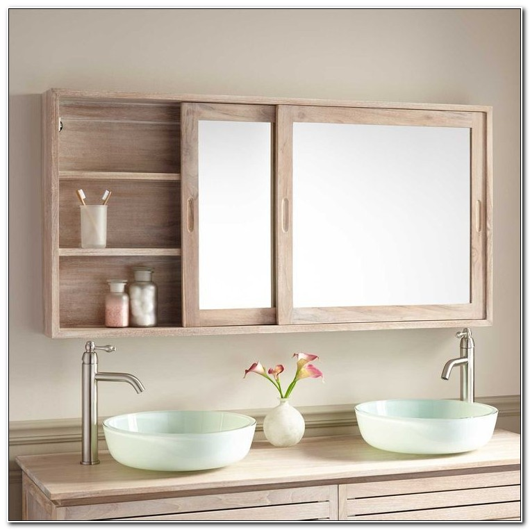 Ready Assembled Mirrored Bathroom Cabinets