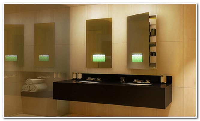Recessed Built In Bathroom Mirror Cabinet