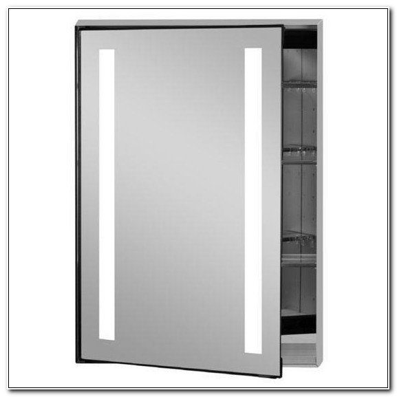 Recessed Medicine Cabinet With Led Lights