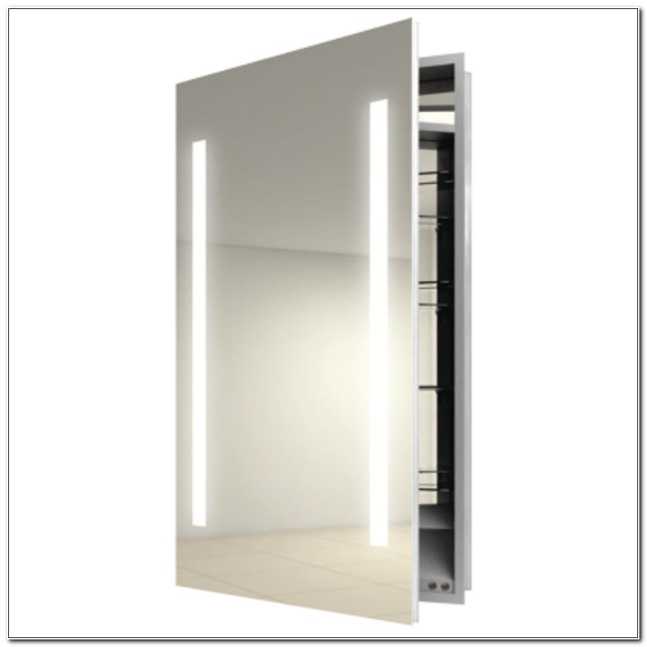 Recessed Medicine Cabinet With Mirror And Lights