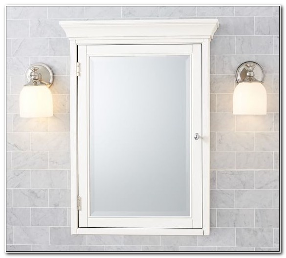 Recessed Medicine Cabinet With Mirror White