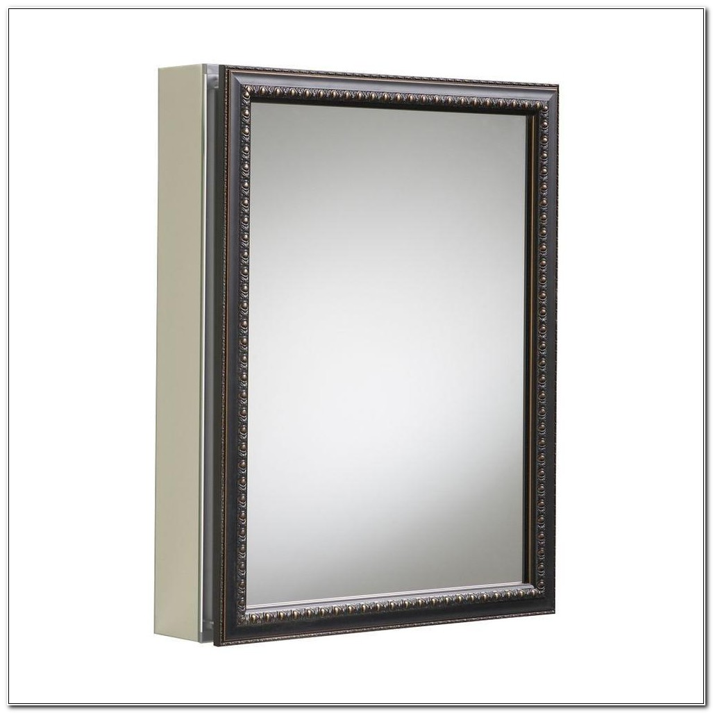 Recessed Or Surface Mount Mirrored Medicine Cabinet
