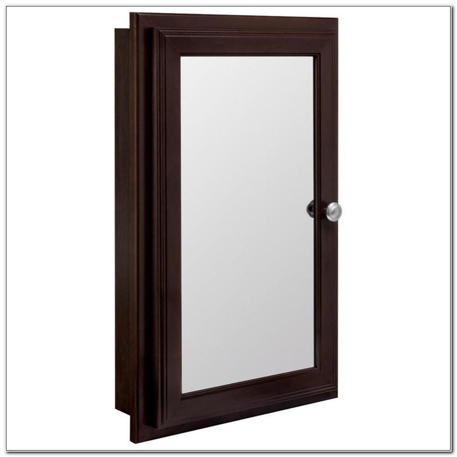 Recessed Wooden Medicine Cabinets