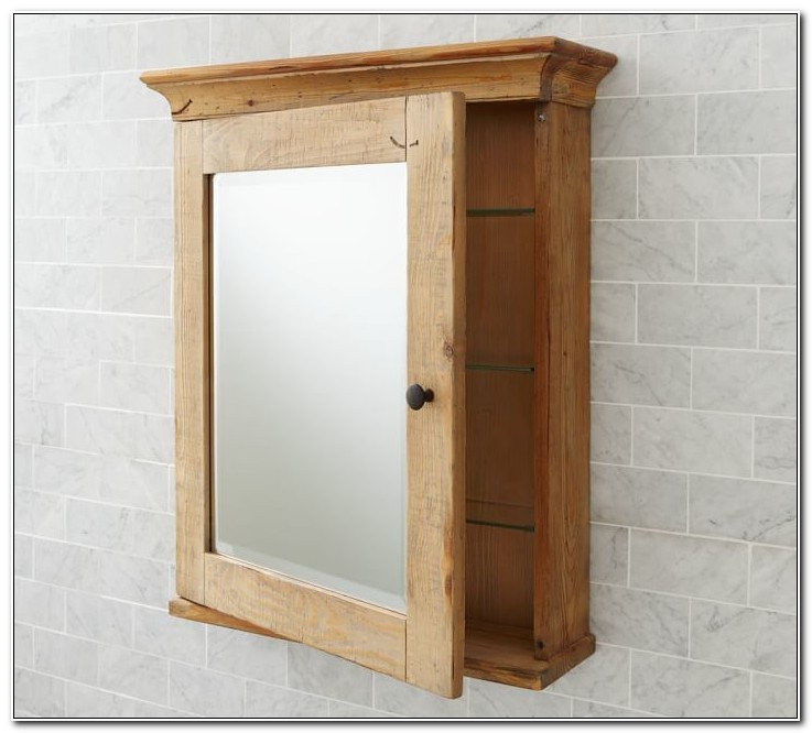 Reclaimed Wood Bathroom Wall Cabinets