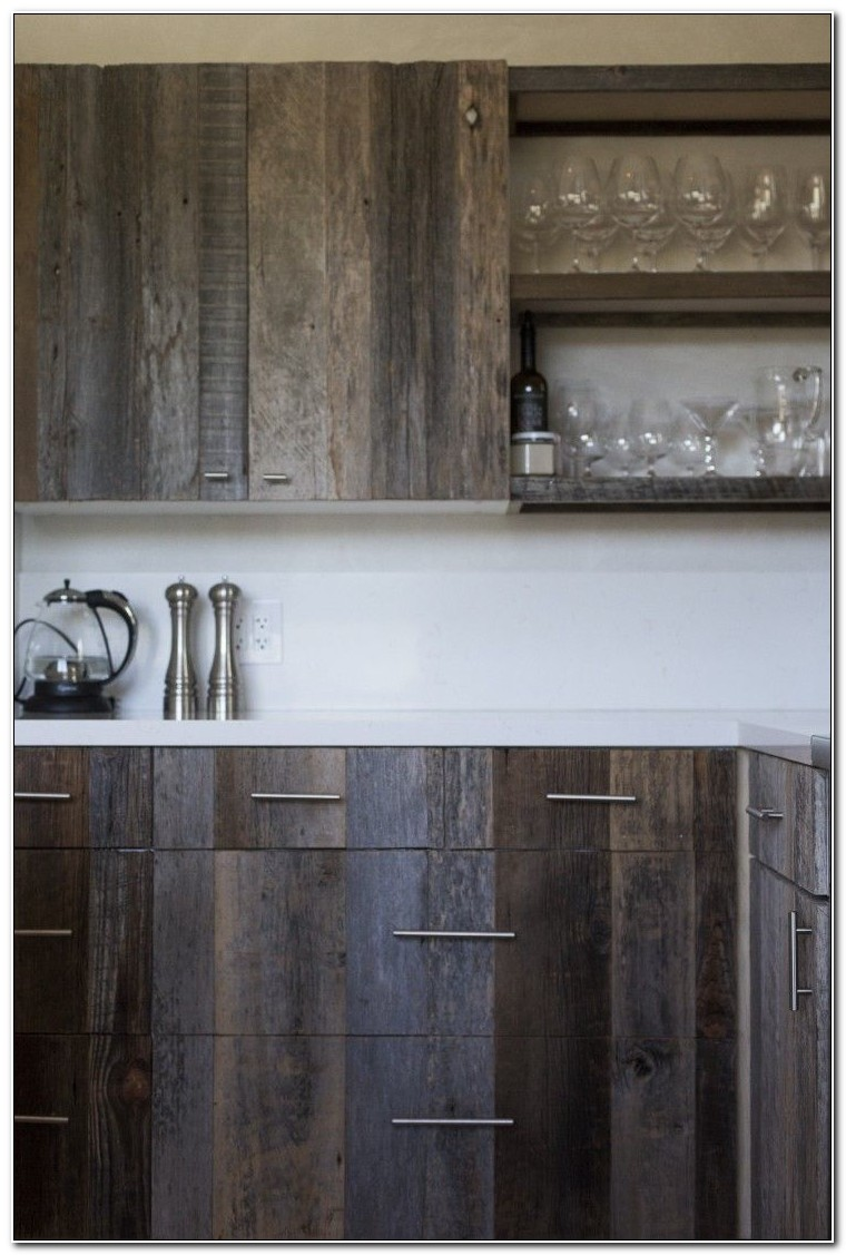 Reclaimed Wood Kitchen Cabinet Doors
