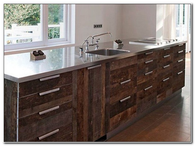 Reclaimed Wood Kitchen Cabinetry