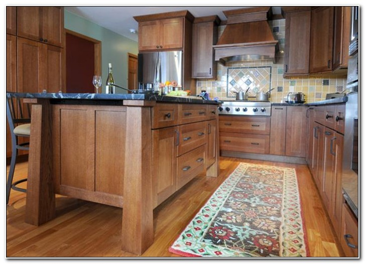 Red Oak Shaker Kitchen Cabinets