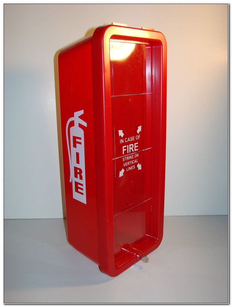 Red Plastic Fire Extinguisher Cabinets