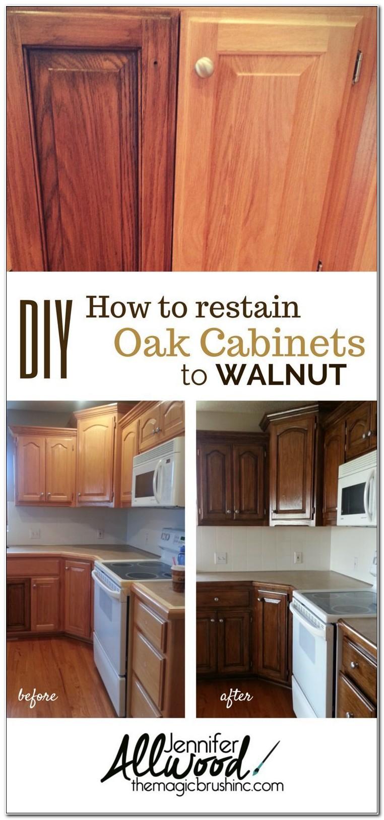 Refinish Oak Kitchen Cabinets Yourself