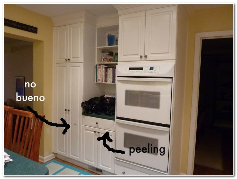 Refinish White Laminate Kitchen Cabinets