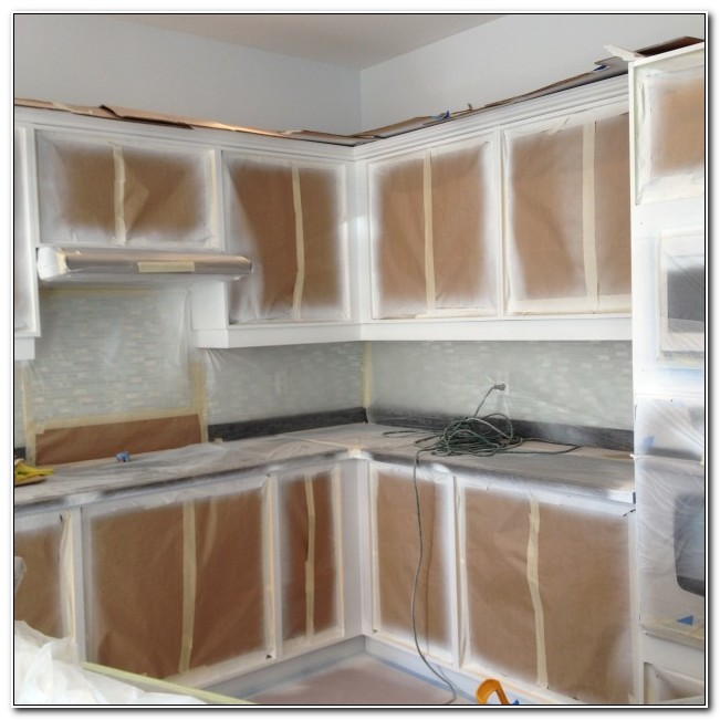 Refinishing Cabinets With Spray Paint