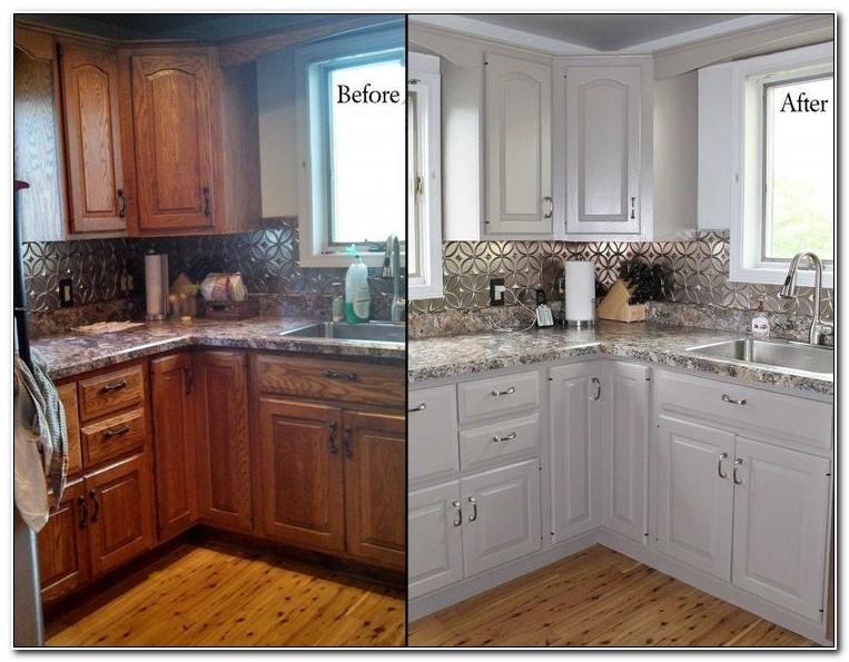 Refinishing Oak Kitchen Cabinets White