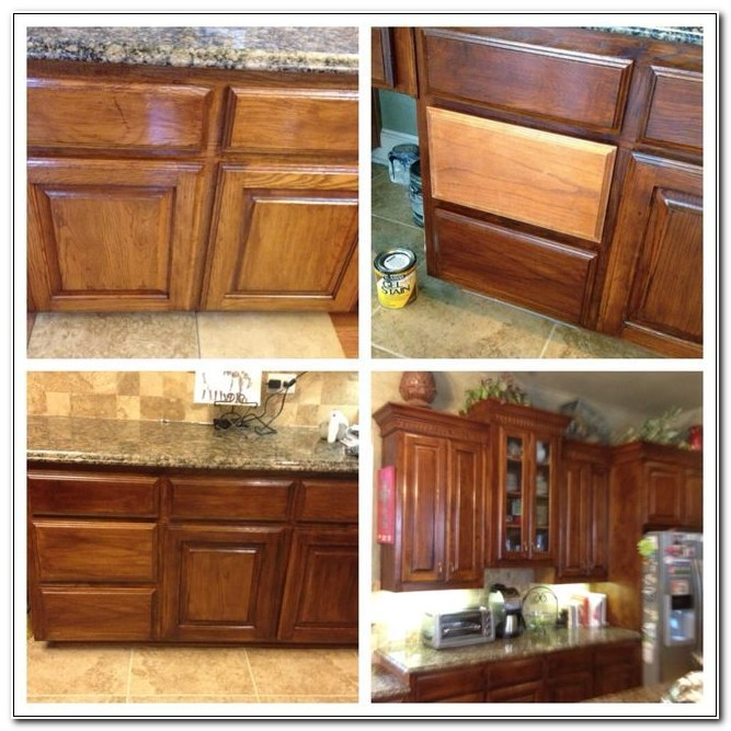 Refinishing Oak Kitchen Cabinets With Gel Stain
