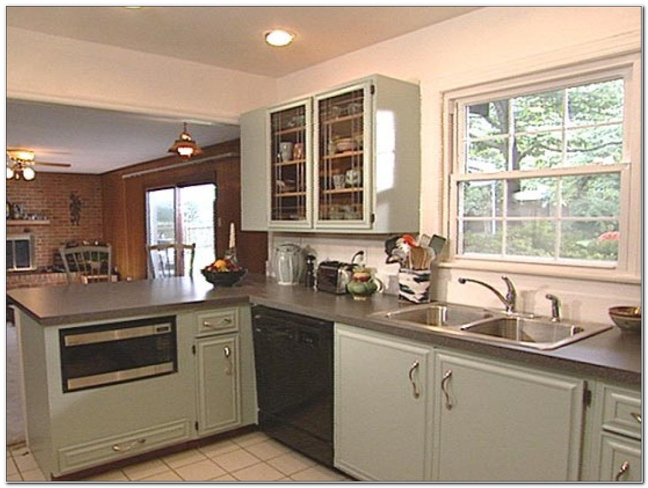 Refinishing Old Painted Kitchen Cabinets