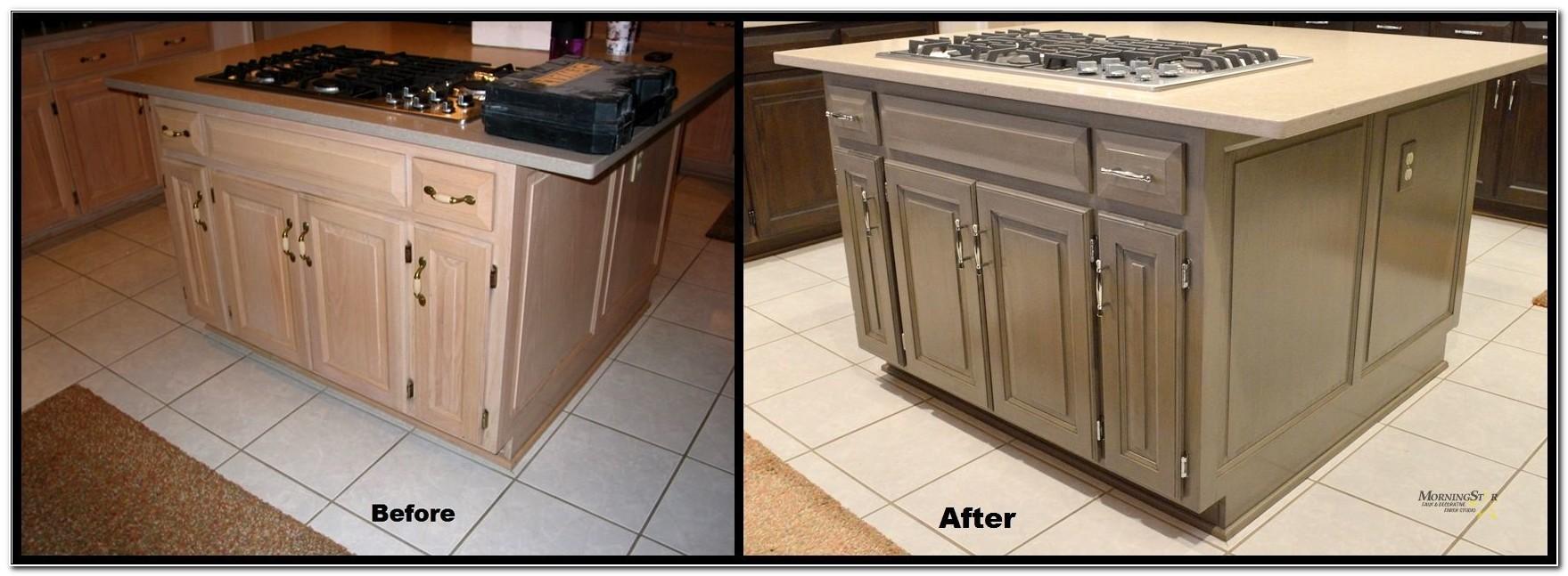 Refinishing Pickled Oak Kitchen Cabinets