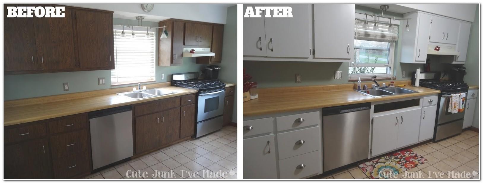 Refinishing Wood Laminate Kitchen Cabinets