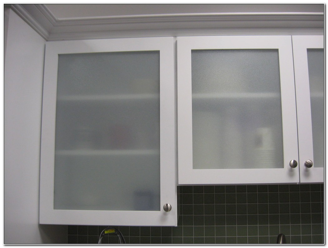 Replacing Cabinet Doors With Frosted Glass