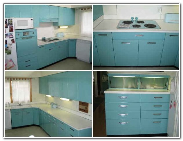 Retro Style Metal Kitchen Cabinets