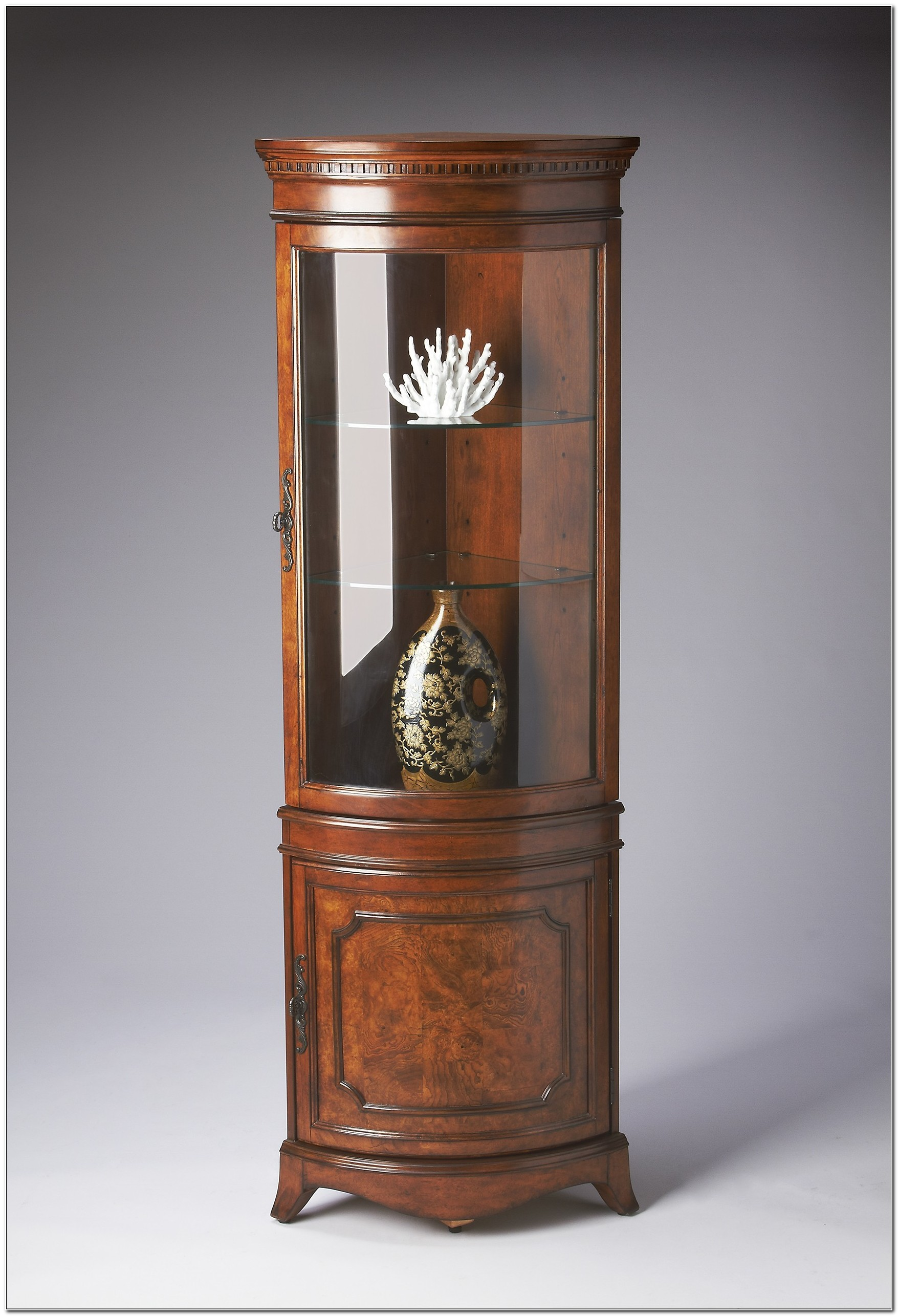 Rounded Corner Curio Cabinet
